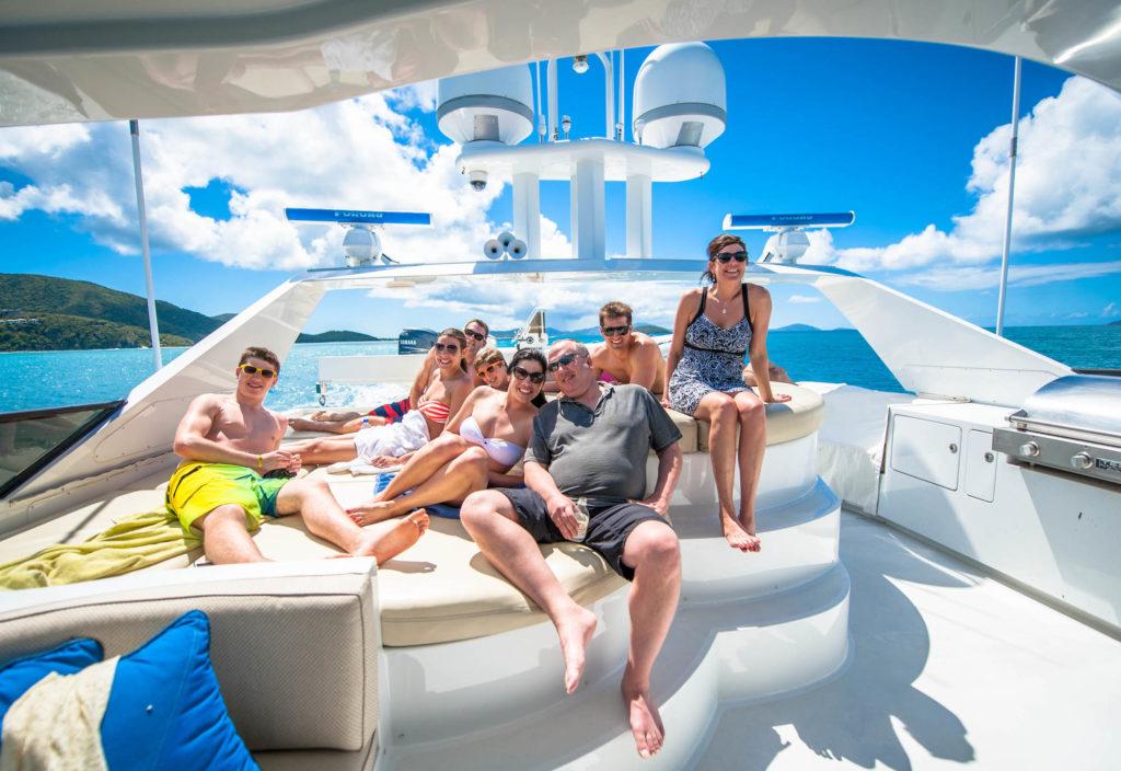People on yacht